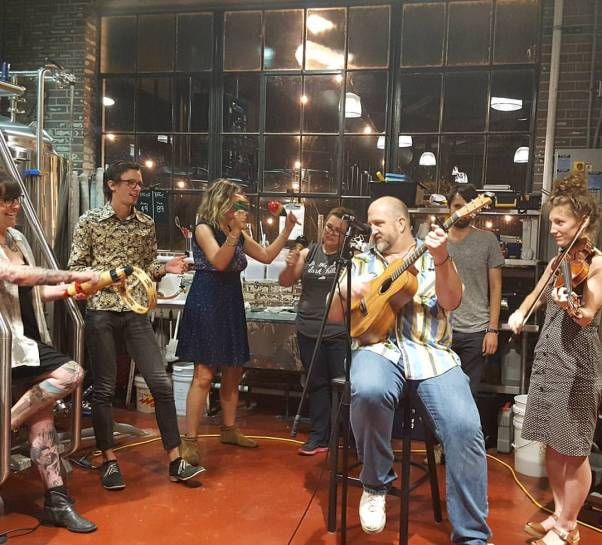 An open mic hosted by the Kentucky Urban Rural Exchange